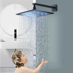 "12"" Rain Shower Head Top Sprayer with Shower Arm Wall Mounte"