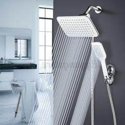 "10"" Rainfall Shower Head Combo Dual Shower Head High Pressur"