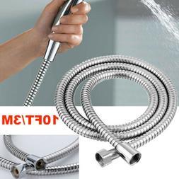 10Ft Shower Head Hose Extra Long 3M Stainless Steel Hand Held Bathroom Flexible