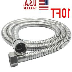 10Ft Shower Head Hose Extra Long Stainless Steel Hand Held B