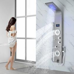 "12""Oil Rubbed Bronze Rain Shower Combo Set Square Shower Hea"