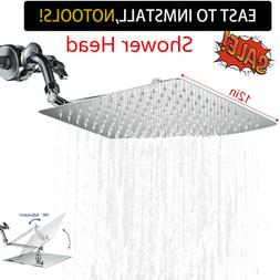 12'' Rainfall Shower Head With 11'' Adjustable Extension Arm