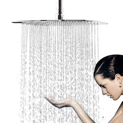 16 Inch Large Square Rain Showerhead Polish Chrome Finish Ra