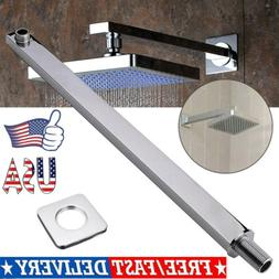 16inch 40cm Square Chrome Wall Mounted Shower Extension Arm
