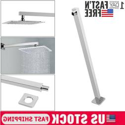 16inch Brushed Stainless Steel Straight Wall-Mounted Shower