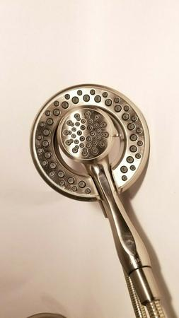 Delta 2-In-1 Shower Head And Hose, Single Spray Touch, Gray,