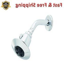 2 Spray Shower Head Durable Chrome Self Cleaning Spray Holes