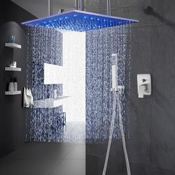 20-inch Shower Faucet Ceiling Mount Rain Shower System Squar