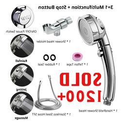 3 In 1 High Pressure Showerhead Handheld Shower Head