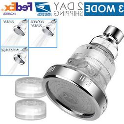 3 Mode High Pressure Shower Head Ionic Filtered Stone Stream