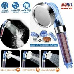 3 Mode High-Turbo Pressure Shower Head Filtered Ionic Stone