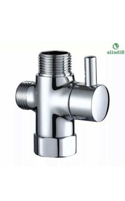 3-Way Shower Head Diverter Valve Sprayer Arm Mount G1/2 T-Ad