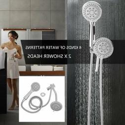 4 Way Shower Combo Setting Luxury Handheld Head Ultra Rainfa