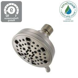 Delta 5-Spray 4 in. H2Okinetic Shower Head in Brushed Nickel