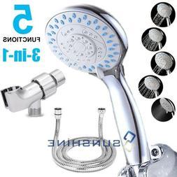 5 Spray Settings High Pressure Handheld Shower Head Massage