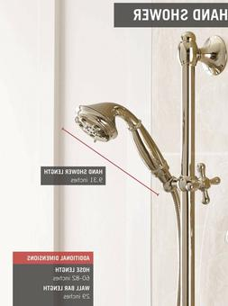 Delta 51308-PN Traditional Slide Bar Hand Shower Brilliance