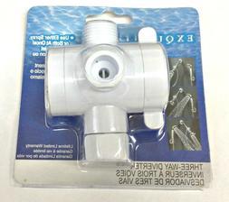 LDR 520 2459C Universal Three-Way Shower Diverter - White