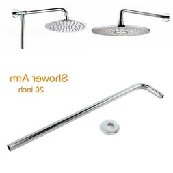 52cm  Rain Shower Head Stainless Steel Wall Mounted Extensio