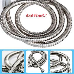 "59"" 5FT Flexible Shower Head Hose Extra Long Stainless Steel"