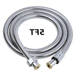59'' 5FT Shower Head Hose Flexible  Extra Long Stainless Ste