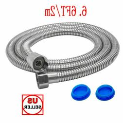 6.6FT Flexible Shower Head Hose Extra Long 2M Stainless Stee