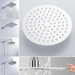 6/8/10/12 inch Stainless Steel Shower Head Square or Round T