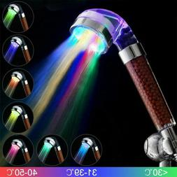 7-Color LED Bathroom Shower Heads High Turbo Pressure Anion