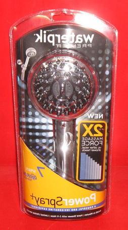 Waterpik 7-Mode Power Spray Hand Held Shower Head, Chrome XA