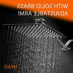 8-inch Brushed Nickel Square Shower Head  Sprayer Faucet Bra
