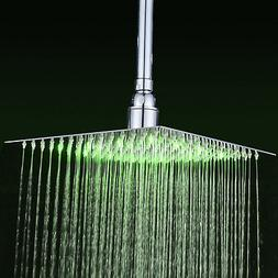 8-inch LED Rain Shower Head High Pressure Ultrathin Rotate H