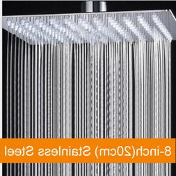 8 square chrome bath rainfall shower head