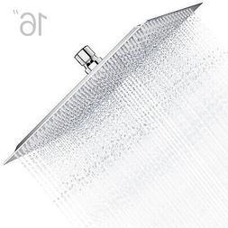 8'' Square Stainless Steel Rain Shower Head Chrome Bathroom