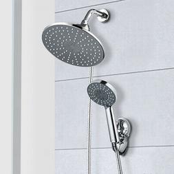 9'' Rainfall Shower Head Combo Dual Shower Head High Pressur