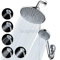 9'' Rainfall Shower Head Combo Dual Shower Head 5 Spray-Sett