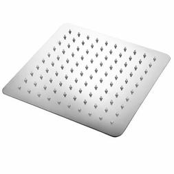 "HotelSpa Giant 10"" Stainless Steel Slimline Square Rainfall"