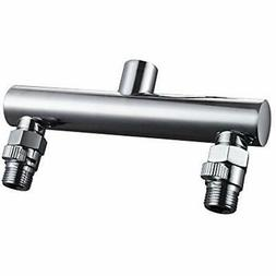 KES ALL BRASS Shower Head Double Outlet Manifold with Shut O