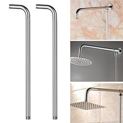 Simply Silver - Shower Head - 24'' 60cm Shower Head Wall Arm