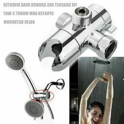 ABS Fix Bracket 3-Way Valve Sprayer Arm Mount Shower Head Di