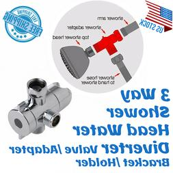 ABS Fix Bracket 3-Way Valve Sprayer Arm Mount Shower Head Di