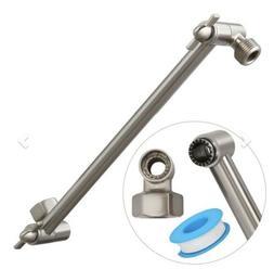 ShowerMaxx Adjustable Shower Arm Extender, Brushed Nickel, 1