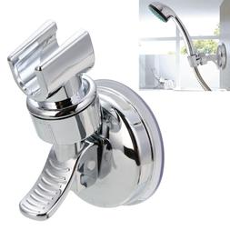 Adjustable Wall Mounted Chrome Suction Bracket Shower Head H