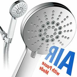 AirJet-300 High Pressure Luxury 6-setting Hand Shower with H