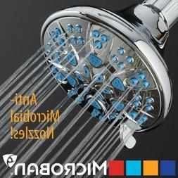 Antimicrobial / Anti-Clog High-Pressure 6-setting Shower Hea