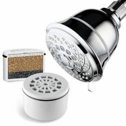 AquaCare By HotelSpa Filtered Shower Head Large 4 Inch Chrom