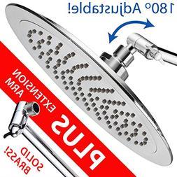 AquaSpa 9-inch Round Rain Shower Head  PLUS HotelSpa 11 Inch