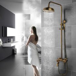Bathroom Shower Faucet Antique Brass Rainfall 8 inch Shower