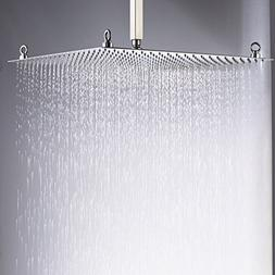 Rozin Bathroom Square 20-inch Rainfall Top Shower Head Overh