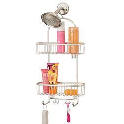 mDesign Vintage Metal Wire Bathroom Tub & Shower Caddy, Hang