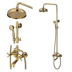 Rozin Bathroom Tub Shower Faucet Units 8-inch Rainfall Showe