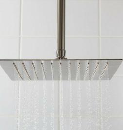 """Beveled Square Rainfall Shower Head 12"""" Fixture  for the Bat"""